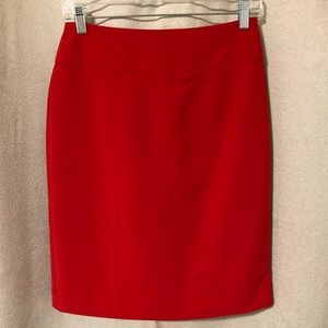 Worthington red pencil skirt